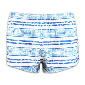 DARKHINY(ダークシャイニー) Men's Silk Trunks -BORDER Blue×White