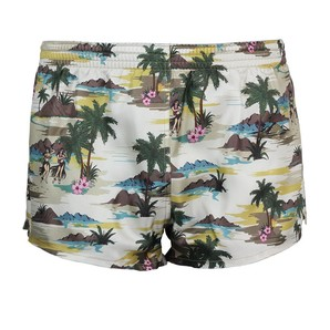 DARKHINY(ダークシャイニー) Men's Silk Trunks -PALM ISLAND Beige