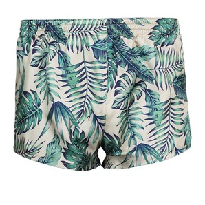 DARKHINY(ダークシャイニー) Men's Silk Trunks -LEAF Navy