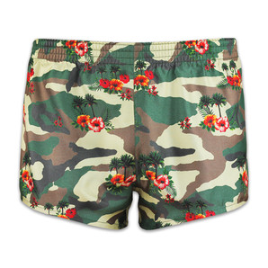 DARKHINY(ダークシャイニー) Men's Silk Trunks -COMO FLOWER Army Green