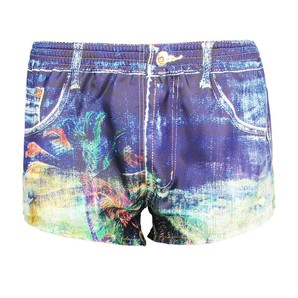 DARKHINY(ダークシャイニー) Men's Silk Trunks -DENIM PALM