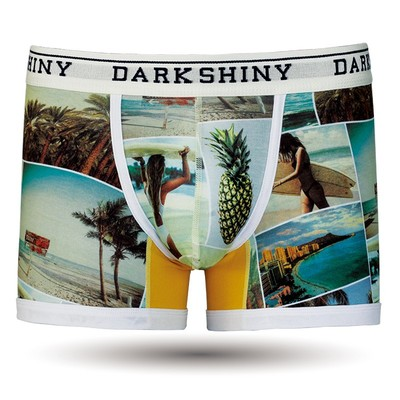 DARKHINY(ダークシャイニー) Men's Sweat Boxer Pants -SUMMER PHOTOGRAPH